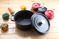 black color enamel pot stainless steel cookware