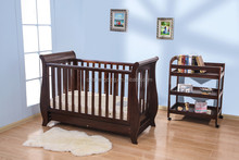 Solid wood baby cribs wood luxury baby beds with drawers daycare cots