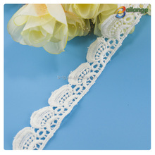 Custom design water soluble trims white color lace embroidery