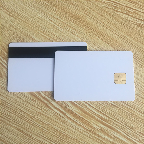 Commercio all'ingrosso inkjet printable ISO 7816 chip card blank smart card IN PVC