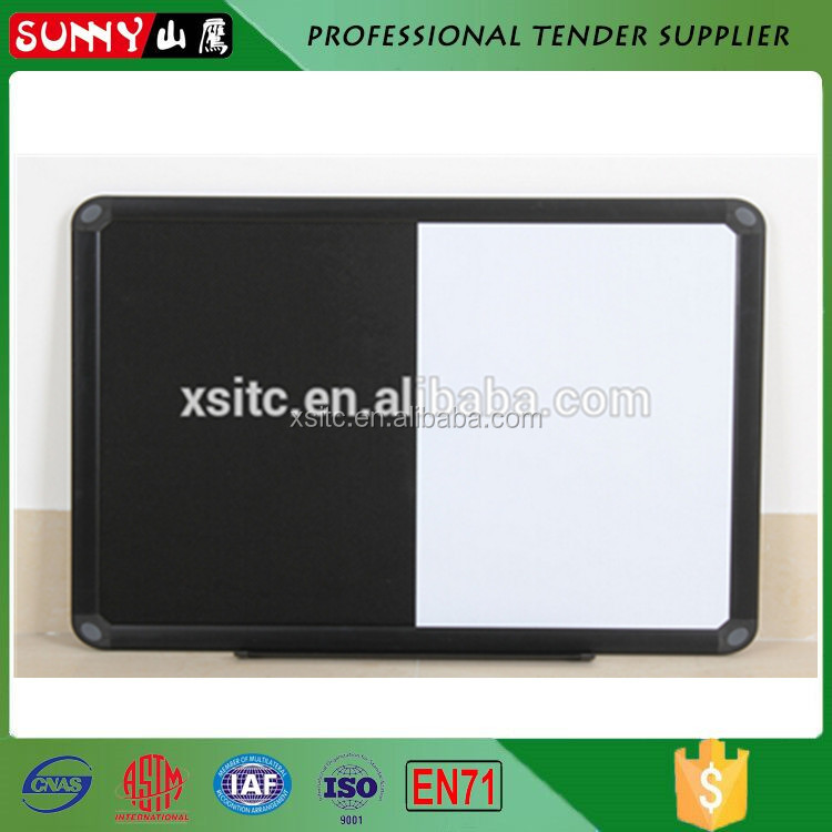 Government tender oem black white cork board