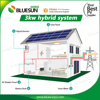 Bluesun kit solar home 3 kw hybrid solar inverter 3kva for home