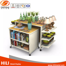 Metal supermarket rack flower display stands store fixture Retail Store Display flower stand