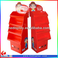 Cardboard sweet candy display stand for exhibitors and promotion