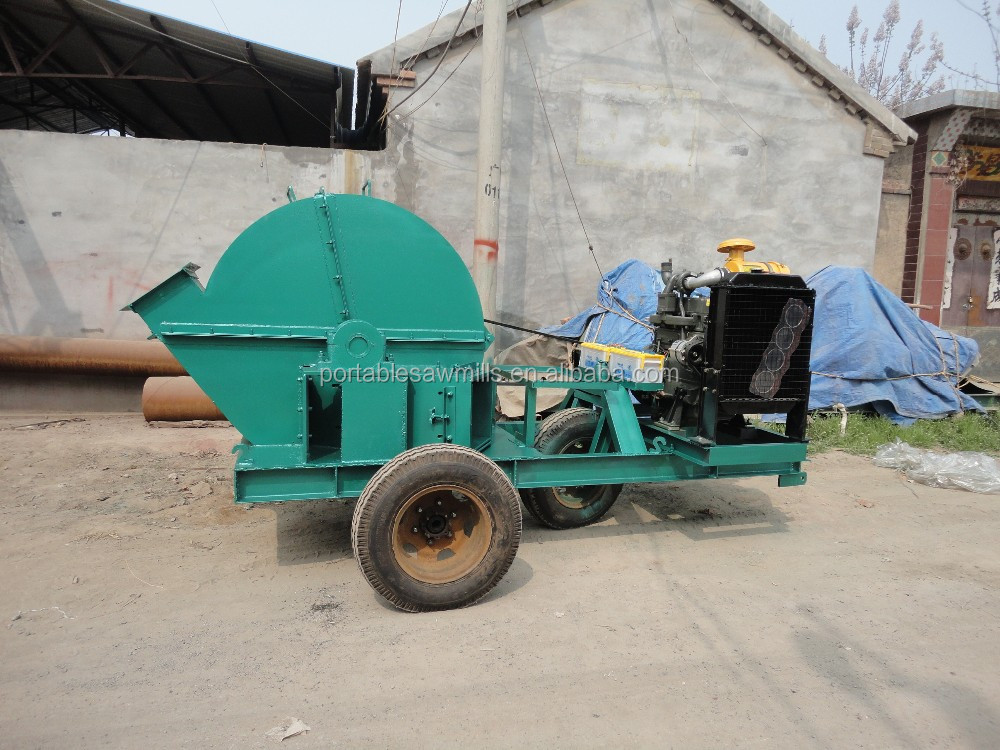 wood chipper machine wood logs crusher to make chips wood grinder