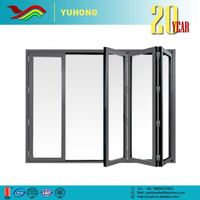 YH Wholesale low prices new design low-E glass bathroom pvc folding door