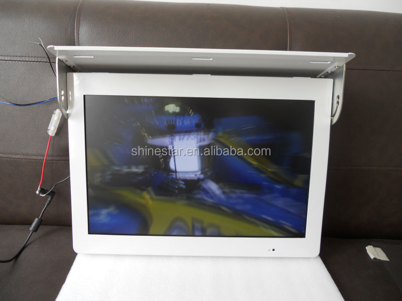 22 inch bus LCD 3G network monitor video totem AD display with mounting bracket