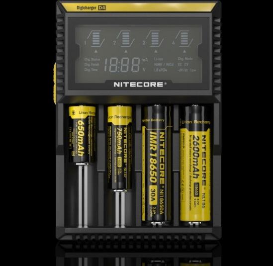 wholesale price 18650 battery charger Nitecore d4 charger CE. Rohs, KCC approved charger for IMR / Li-ion / LiFePO4 batteries