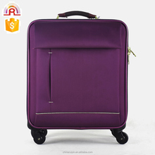 "Purple color Polyester expandable Soft Laptop Luggage Suitcase 16"" business luggage"