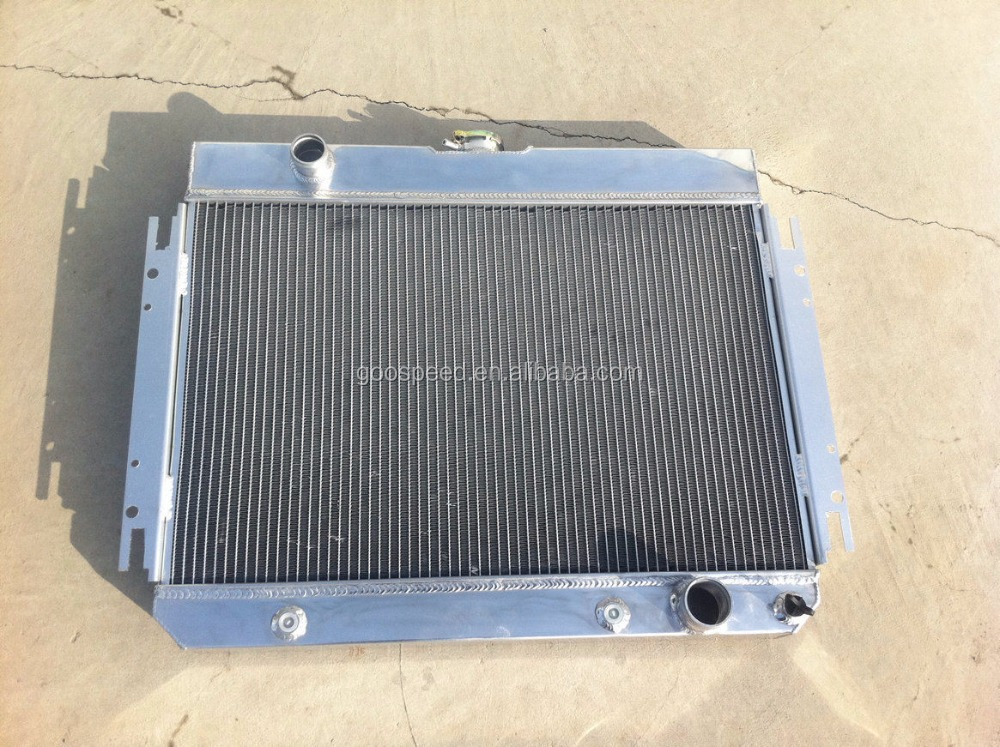 Aluminum auto racing radiator for CHEVY CHEVELLE IMPALA V6 V8 68-90 AT