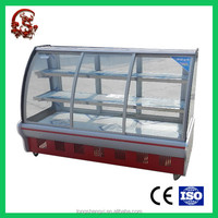 High quality fan cooling display cabinet and showcase for cake