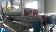 automatic membrane filter press with cloth washing device in sludge dewatering plant