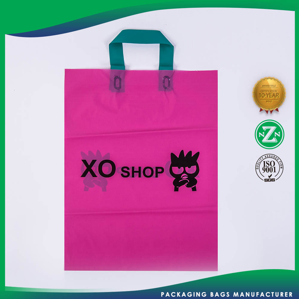 Top Selling Promotions Custom Shape Printed Nlastic Soft Loop Costume Shopping Target Reusable Bag