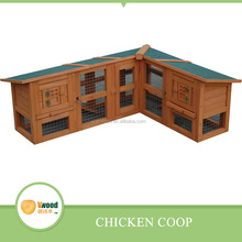 Asphalt Roof Wooden Chicken House, Chicken Coop with two Storeys and with run cage