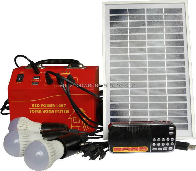 Hot sale 10W 20W solar panel and DC radio cheap price portable solar home power system