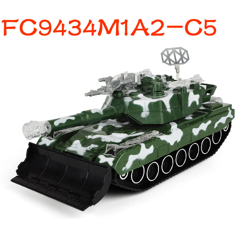 Hot selling electric flashing light and sound <strong>friction</strong> toys tank FC9434M1A2-C5