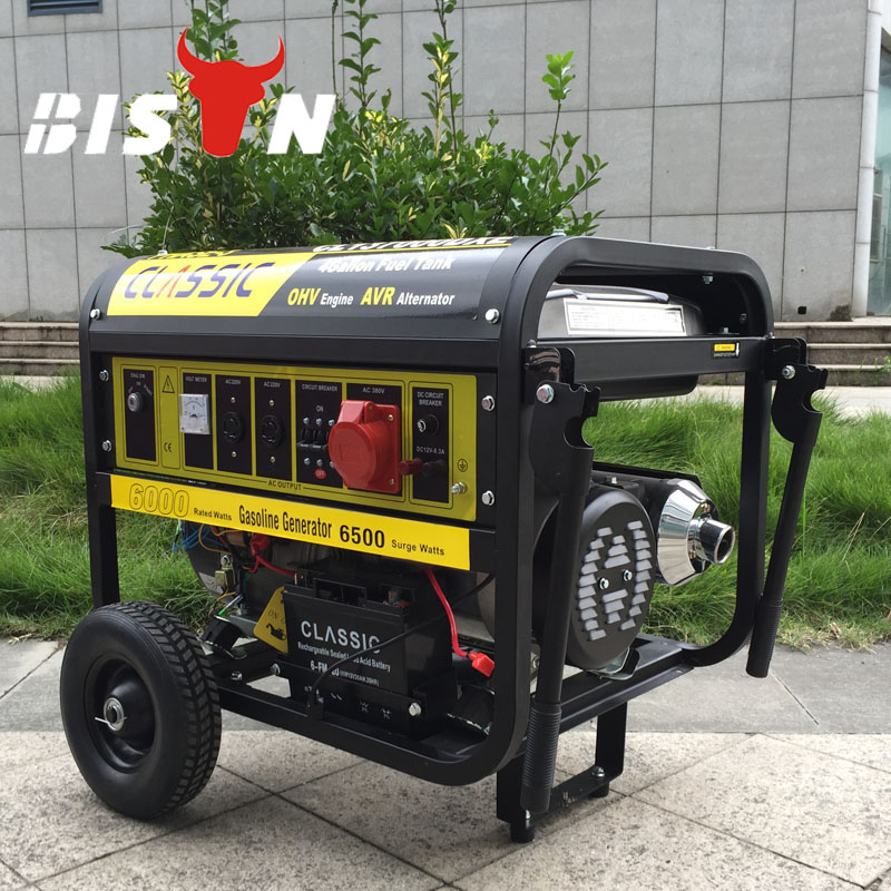 Bison(CHINA) Constant Portable Generator Set 3kw-10kw generator 188 engine