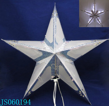 Plastic star decor with 20 warm white led lights, 2016 New Christmas led string light