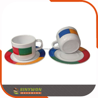 Wholesale Good Quality Plastic Melamine Saucer Mugs Plates And Cups
