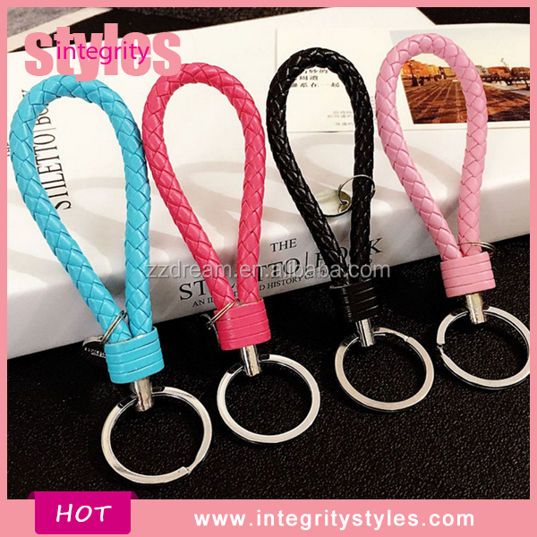 Wholesale Handmade Braided Leather Keychain