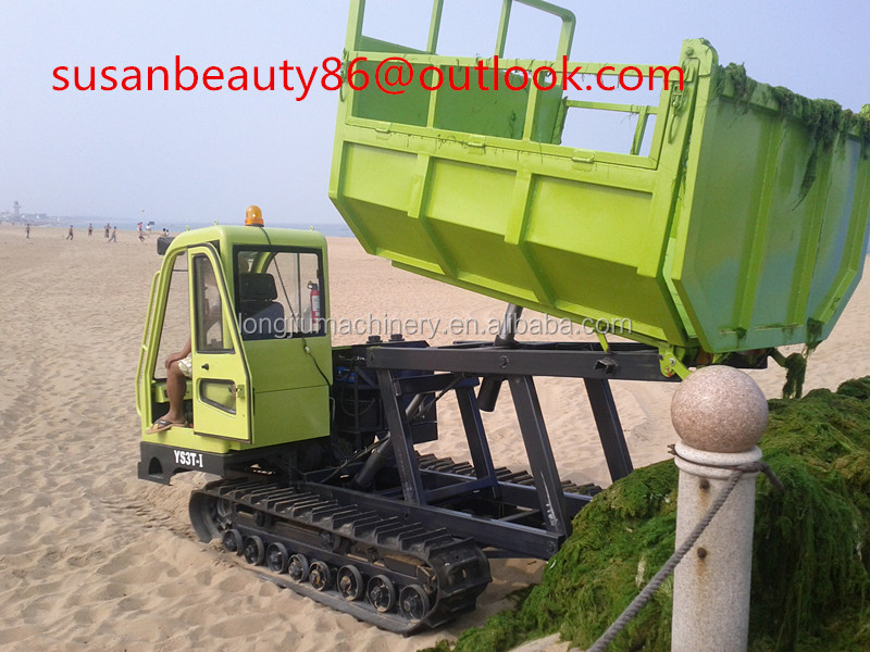 2 ton crawler transporter with steel or rubber track