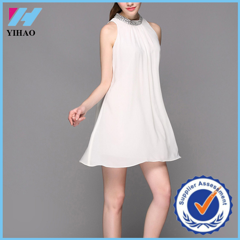 Yihao 2016 Spring Designer Fashion Women Sexy Neck Pictures Dress Party Dresses For Girls of 18 Years Old Boutique Clothing