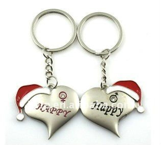 Lovers keychains Christmas lovely keychains novel keyrings