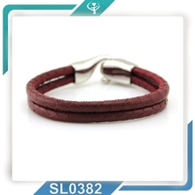 100% genuine stingray leather bracelet handmade european style jewelry