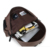 Hot selling fashion black brown anti theft laptop pu leather backpack