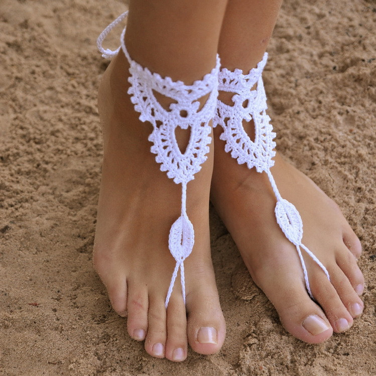 anklet for yoga /wedding /beach travel barefoot decorations crochet nude anklet