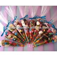 Good quality candy cone plastic bag triangle polybag