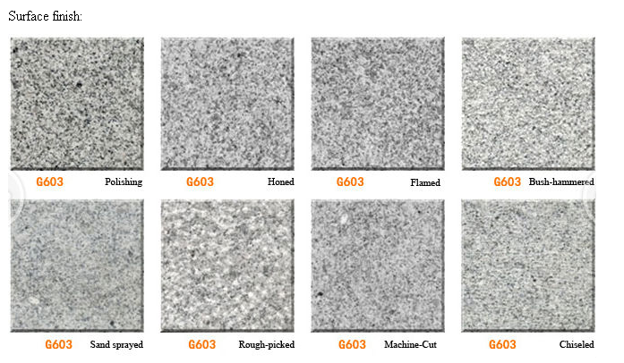 Chinese Cheap Grey G603 Granite price