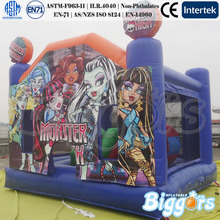 Small Monster Inflatable Jumper Slide Combo with Basketball Hoop