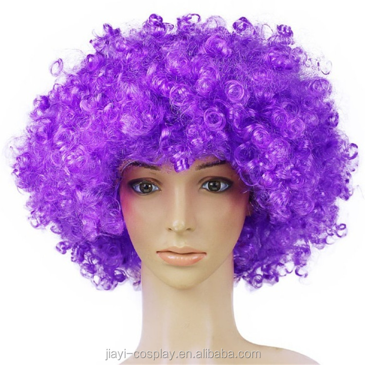 wig factory Crazy Fans wig,High quality purple clown wig
