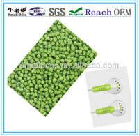 green TPE compound for headphone cable