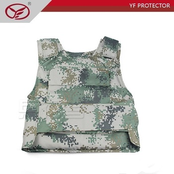 Digital camouflage military with security bulletproof vest