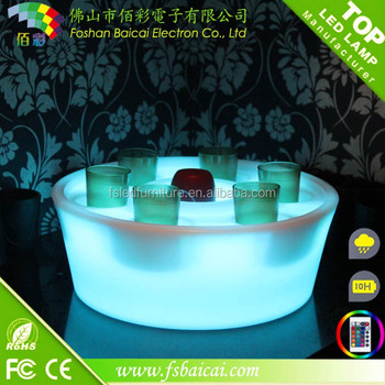 2017 Acrylic round led serving wine holder