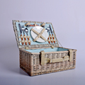 Picnic willow basket, Nice willow picnic basket, Wicker Picnic Basket with cutlery