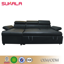 Design and prices Luxury black sleeping sofa bed with drawer made in china