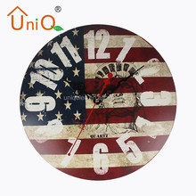 M1210 antique craft made of metal outdoor wall clock from Chinese factory