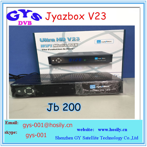 High quality Jyazbox ultra hd v23 satellite receiver with jb200 and wifi Jyazbox v23
