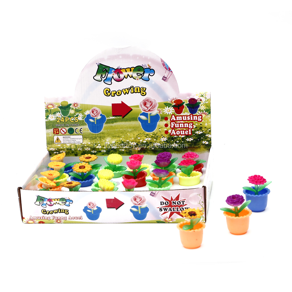 Promotion capsule vending machine magic growing flower toy
