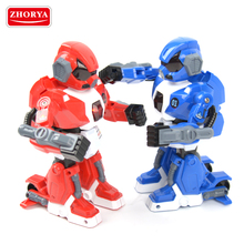 Zhorya 2017 new style remote control battery operated fighting robot toy for children educational gift