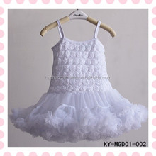 chiffon rose flare puffy baby girls princess frocks for children formal dresses