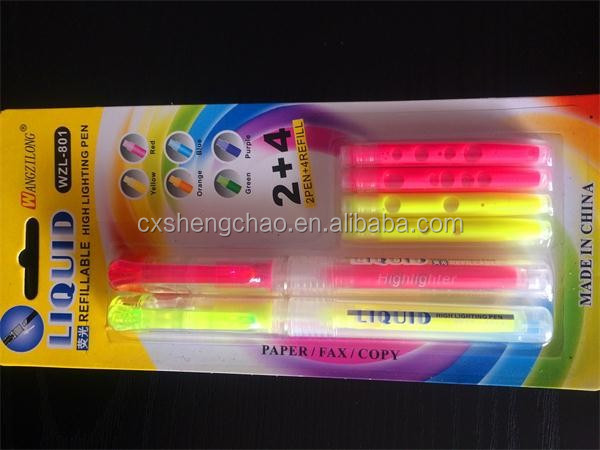 China Wholesale High Quality Multi Color Ball Pen With Highlighter