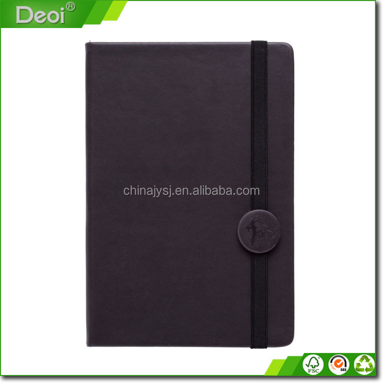 Hardcover diary notebook wite pen