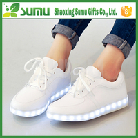 Unisex Women Men USB Charging light Flashing Sneakers led sport shoes