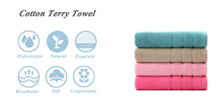 Wholesale blue woven turkish bamboo carbon travel towels with border