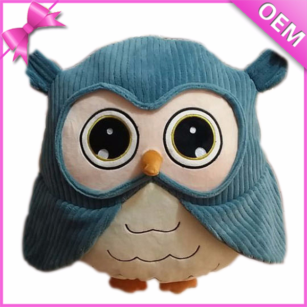 "8"" Standing Adorable Kids Owl Plush Toys Wholesale Big Eyes Cute Plush Toy Big Eyes Soft Plush Owl Toy"