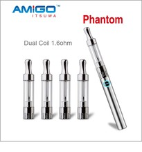 Amigo no leaking refillable ecig tank 510 dual coil cartomizer